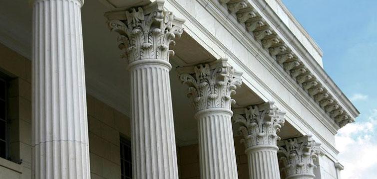 Marble corinthian columns