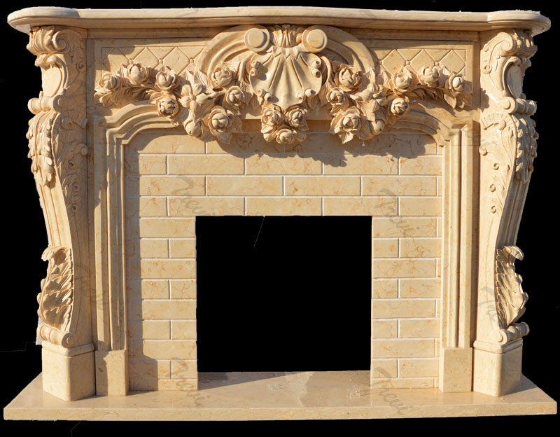 Antique stone french country fireplace mantels surrounds for sale
