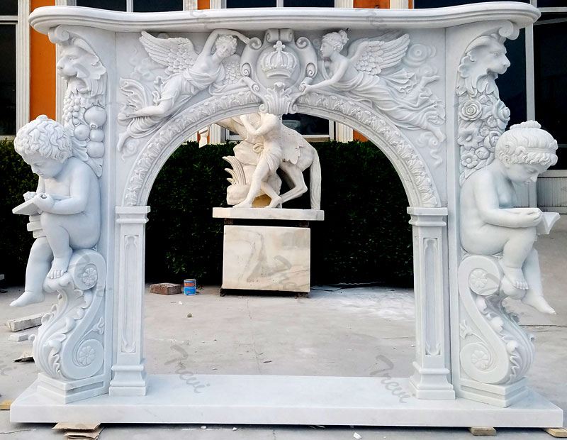 Buy french style white fireplace mantel surround for sale online