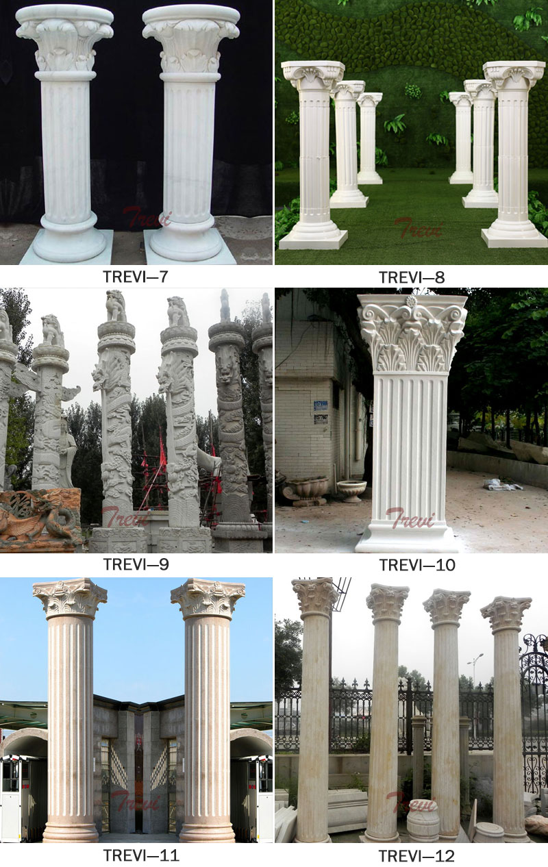 Carved marble corinthian roman pillars for wedding decorCarved marble corinthian roman pillars for wedding decor