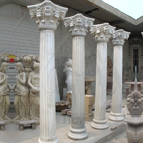 Large decorative marble corinthian columns designs for home depot