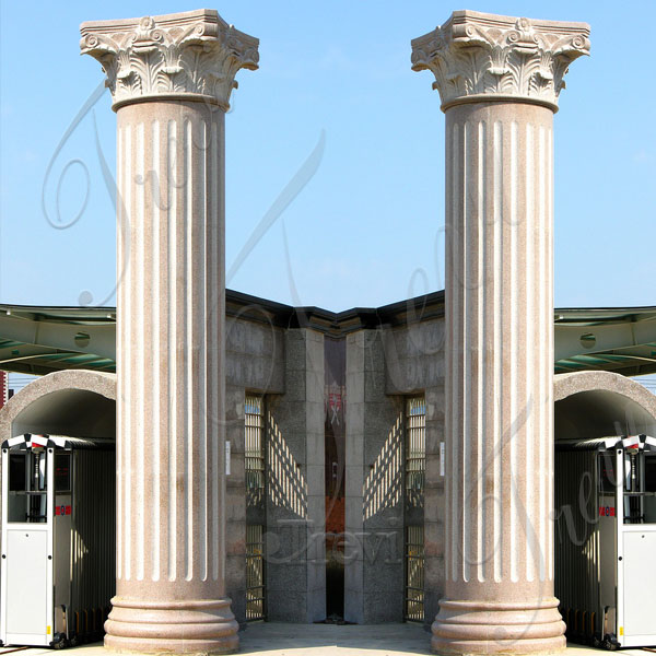 Large empire house columns pillars with corinthian top decor for sale TMC-05