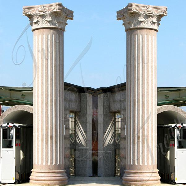 Large empire house columns pillars with corinthian top decor for sale