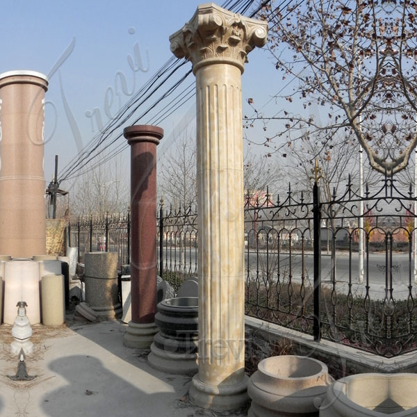 Large support solid marble architectural columns exterior