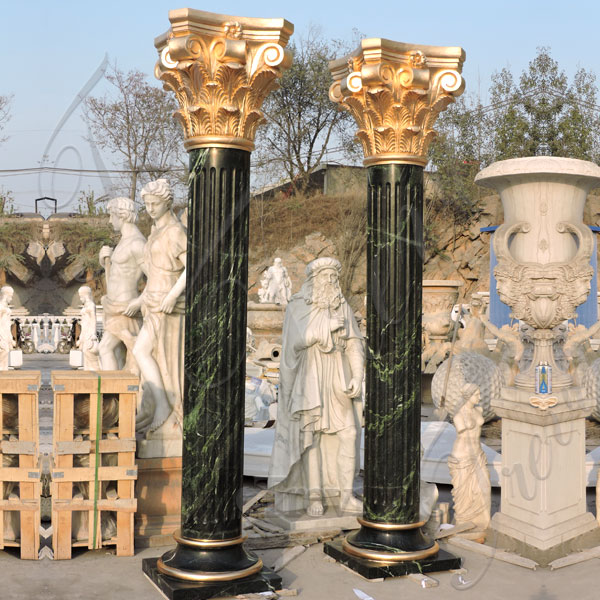 Luxury empire marble corinthian columns factory supply