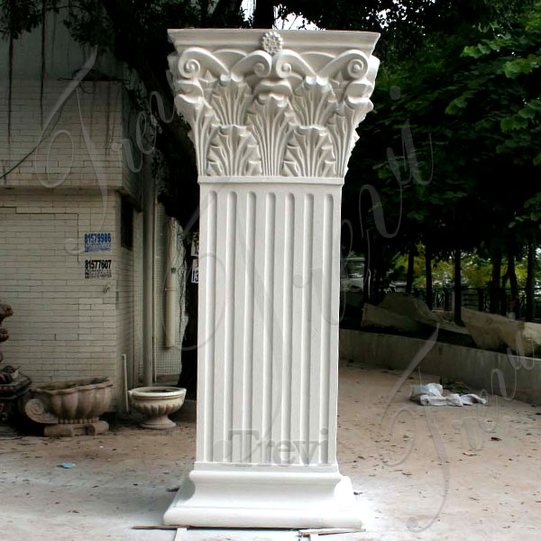 Roman square front porch support pillars and columns designs