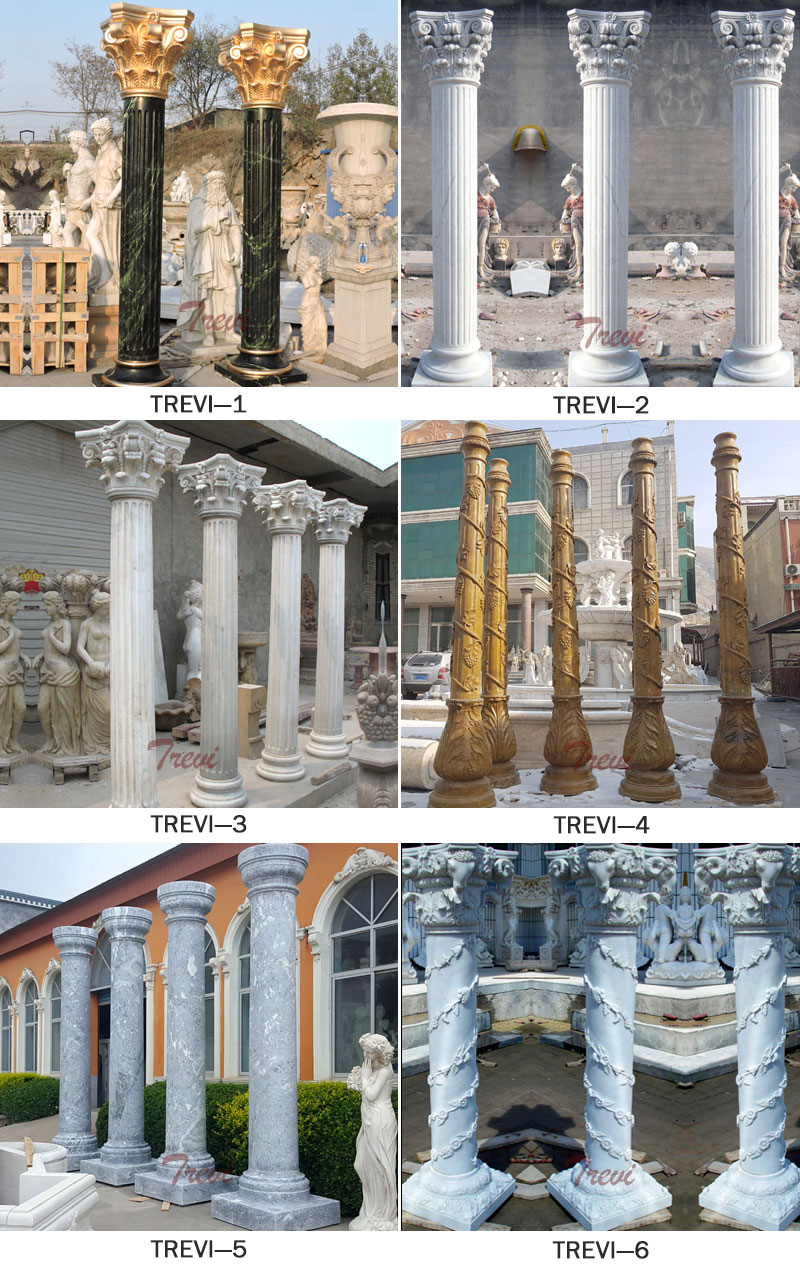 White marble corinthian roman pillars for weddings exterior designs