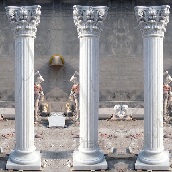 White marble decorative pillars and columns for weddings TMC-13