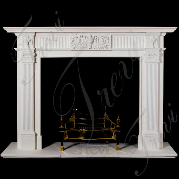 Cheap stone simple white fireplace mantel frame for sale TMFP-10