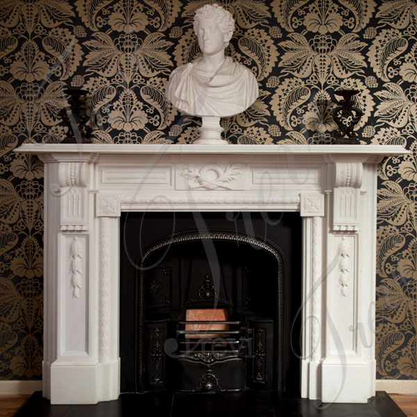 Corner white fireplace mantels and surrounds for sale near me TMFP-12