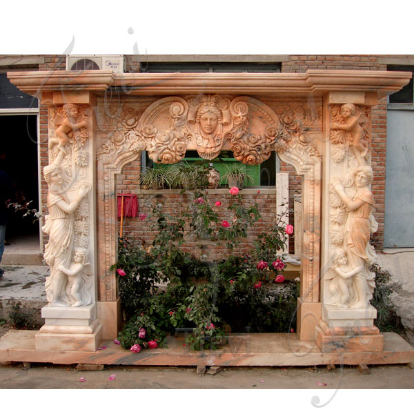 Craftsman style antique stone fireplace mantels for sale online TMFP-8
