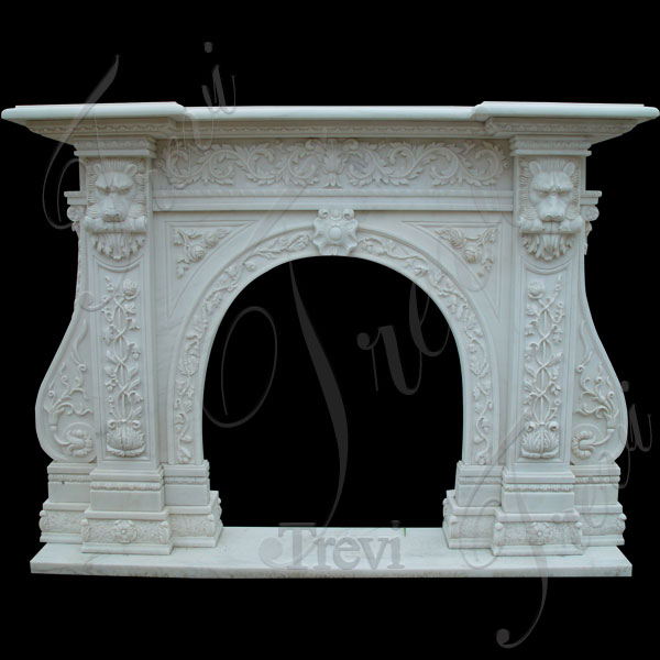 Custom decorating stone fireplace mantels and surrounds near me TMFP-4