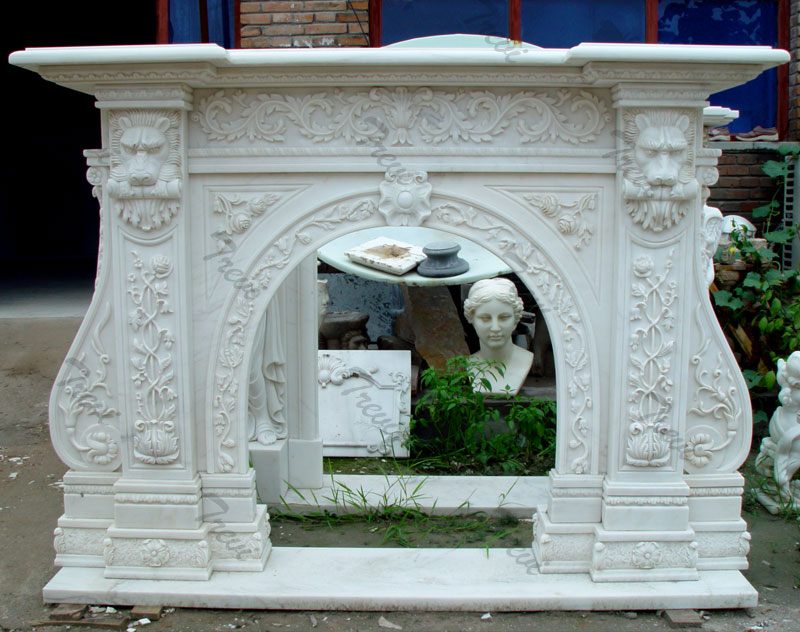 custom white decorating stone fireplace mantels and surrounds near me