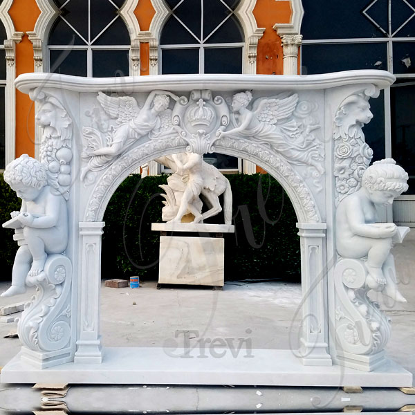 French style white fireplace mantel surround for sale online TMFP-5