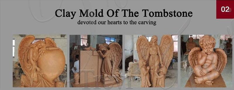 angels engraved on headstones for sale