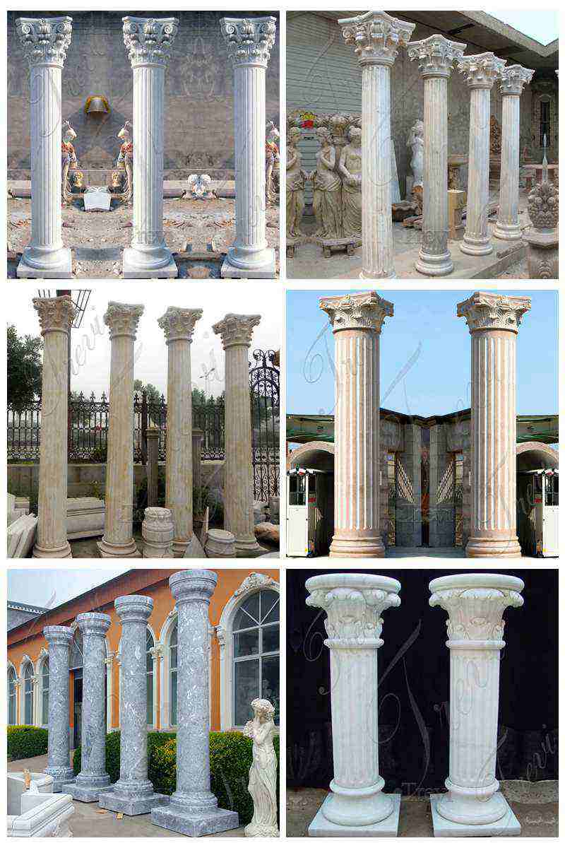 Beige Marble Columns for Home Decoration Suppliers