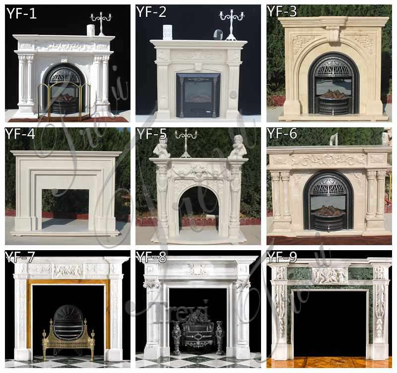 Natural Marble Figure Fireplace Surround