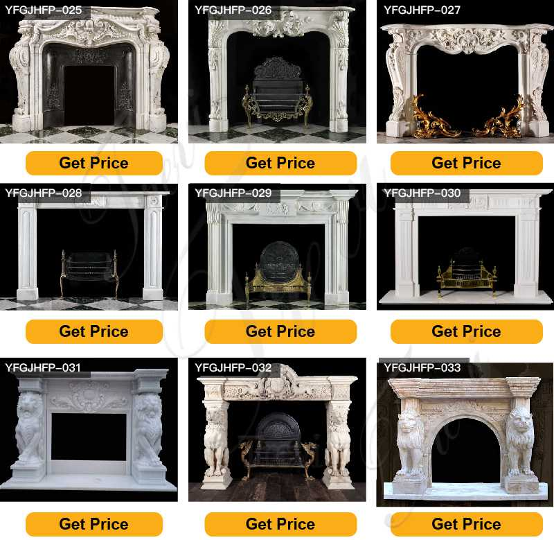 White Marble French Fireplace Mantels for Sale