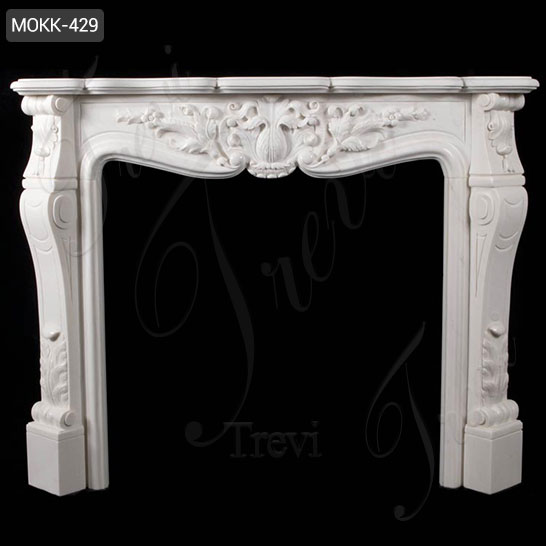 Modern French Marble Fireplace Mantels and Surrounds Factory MOKK-429