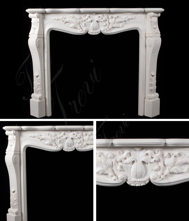 Modern French Marble Fireplace Mantels and Surrounds