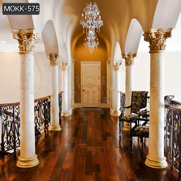 Factory Direct Round Marble Column Home Decoration for Sale MOKK-575