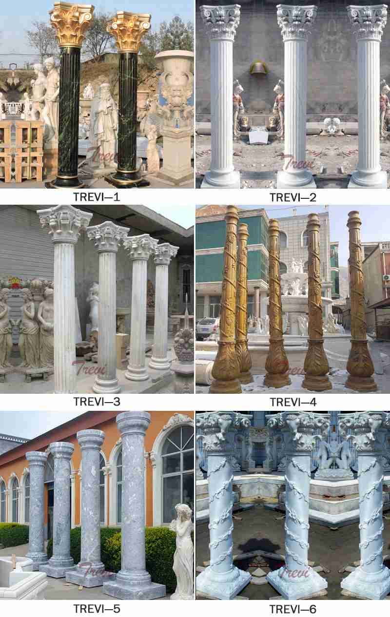Round Marble Column Home Decoration for Sale