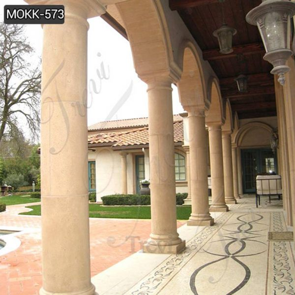 Large Round Marble Columns Designs for Residential Buildings Suppliers MOKK-573
