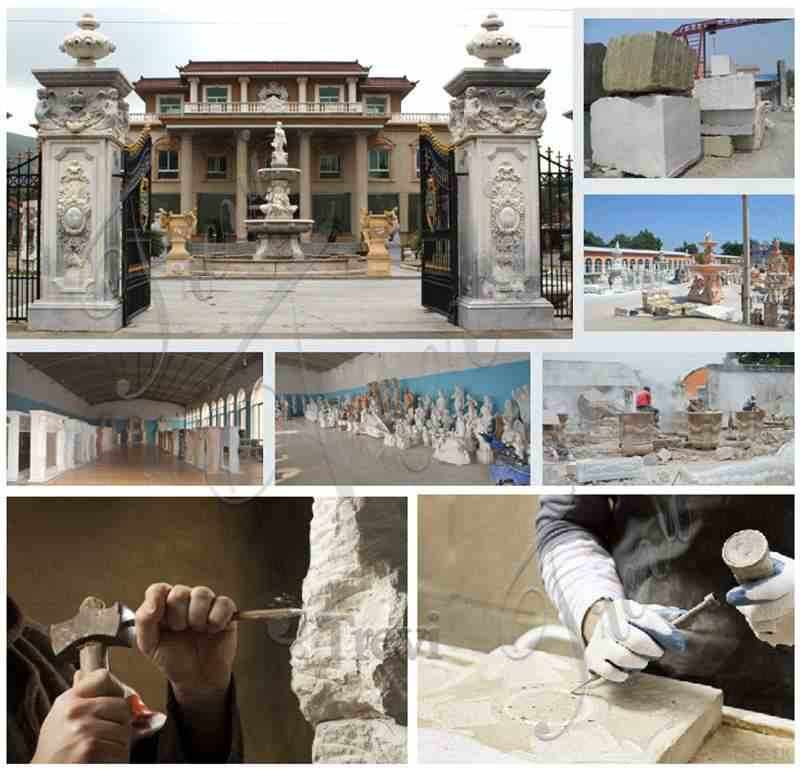 Marble Columns Designs for Residential Buildings