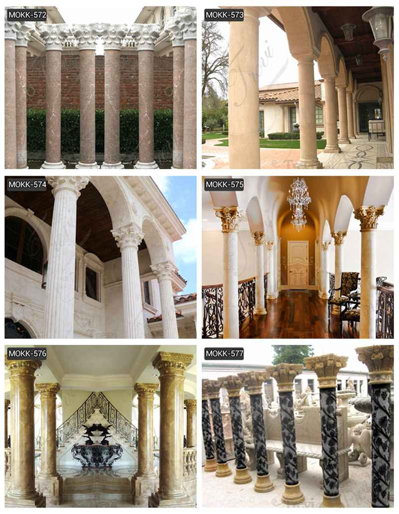 Round Marble Columns Designs for Residential Buildings Suppliers