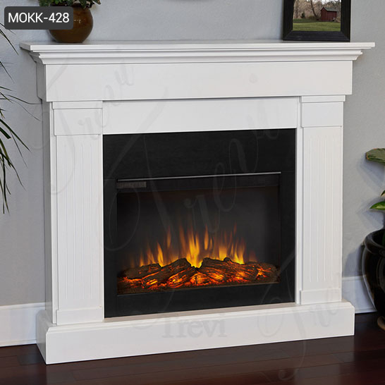 Hand Carved Simple Modern Marble Fireplace Mantel for Sale