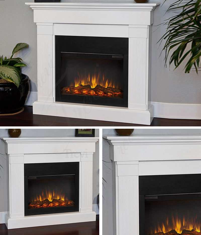 modern marble fireplace mantel