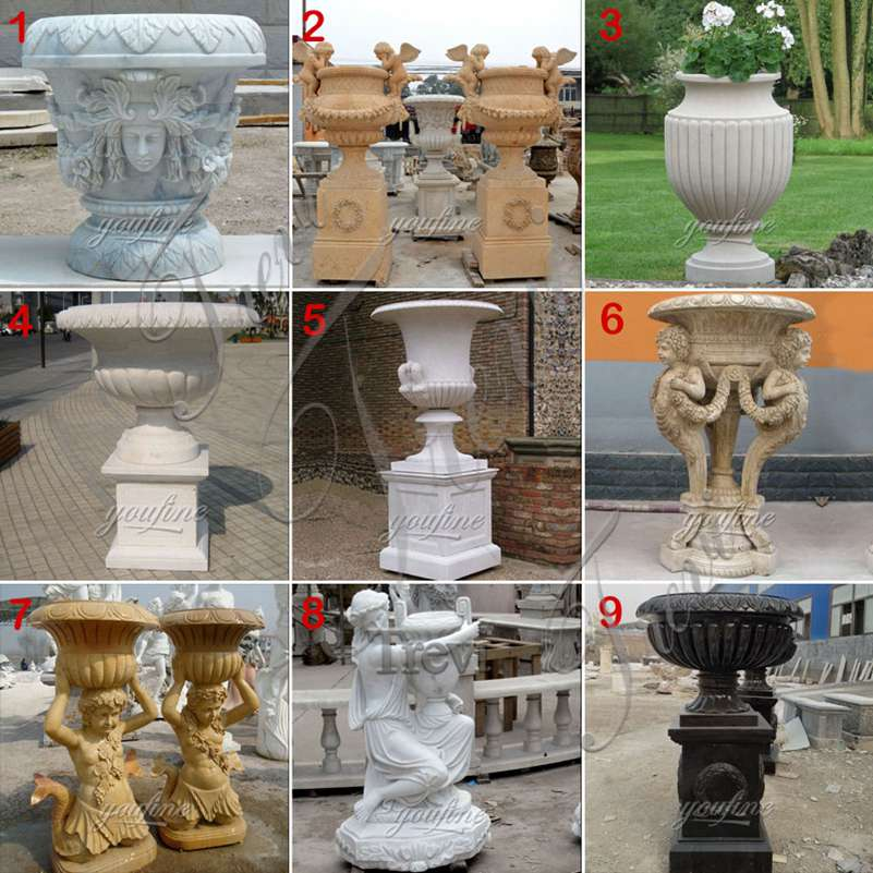 Marble planters manufacturer