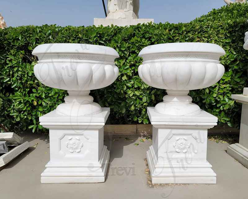 White Marble Garden Planters Factory Supply