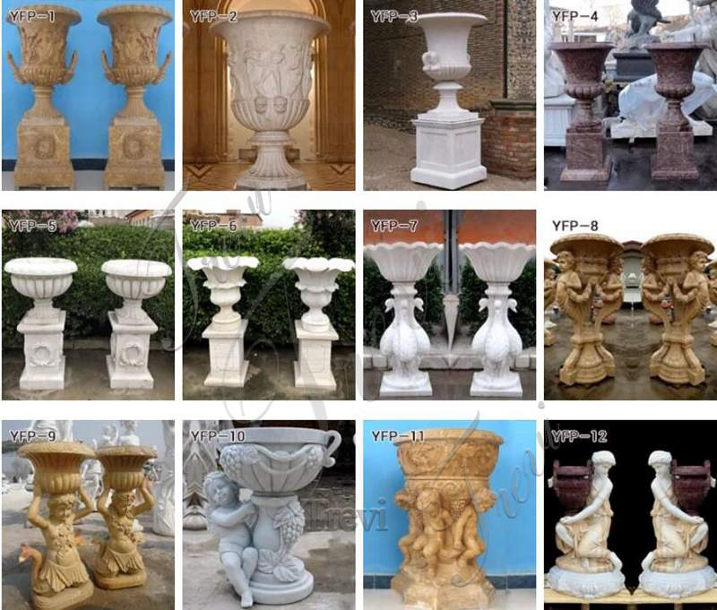 marble planter large