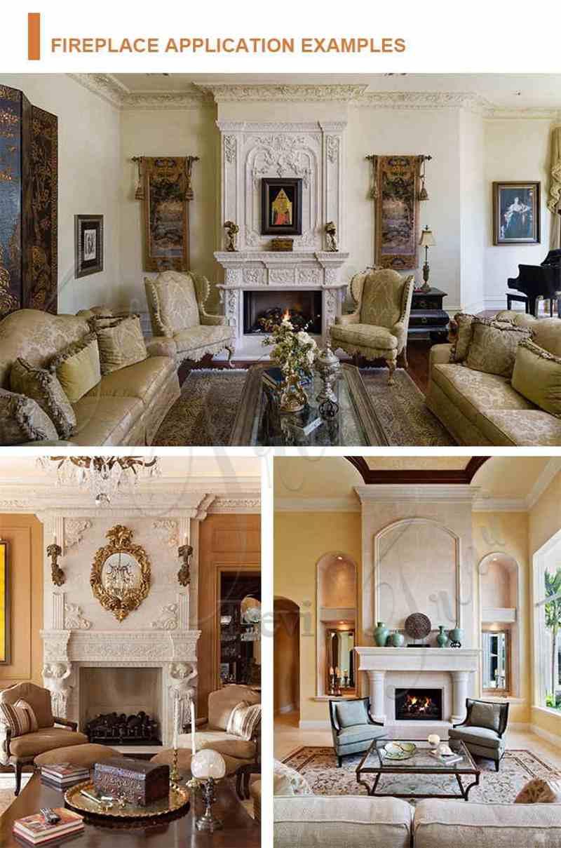 Indoor Georgian marble fireplace