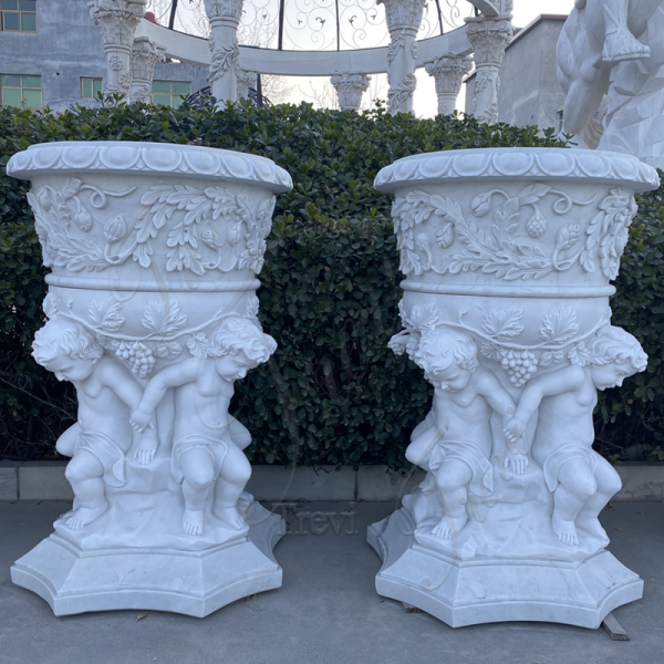 Large Marble Plant Pots Home Garden Decor Wholesale MOKK-48