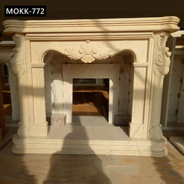 Home Decoration French Marble Fireplace Surround for Sale MOKK-772
