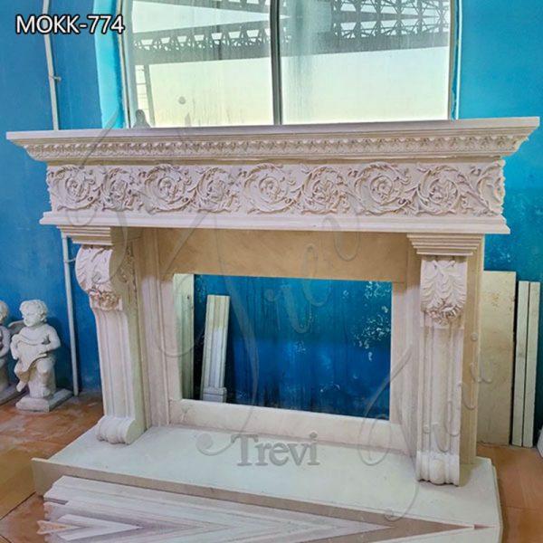 House Decor Regency White Marble Fireplace for Sale MOKK-774